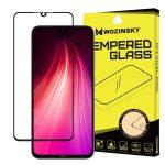 Xiaomi Redmi Note 8 Wozinsky Glass Screen 5D Full Glue teljes kijelzős edzett üvegfólia (tempered glass), 9H keménységű, tokbarát, fekete