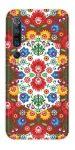 Casegadget Xiaomi Mi 10/Mi 10 Pro népi virág mintás tok, hátlap, színes