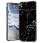 Wozinsky iPhone X/Xs Marble case márvány mintás hátlap, tok, fekete