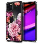 Spigen Ciel iPhone 11 Pro rózsa 2 mintás hátlap, tok, átlátszó