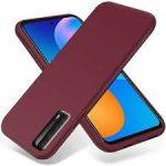 Silicon case Huawei P Smart (2021)   hátlap, tok,  lila