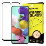 Wozinsky Glass Screen 5D Full Glue Samsung Samsung Galaxy A51 teljes kijelzős edzett üvegfólia, 9H keménységű, tokbarát, fekete