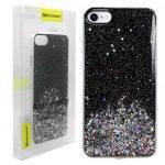 Wozinsky Star Glitter Shining iPhone 6/6S/7/8/SE (2020) hátlap, tok, fekete
