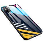 Color Glass Case 2 iPhone Xr edzettüveg hátlap, tok, mintás, színes