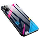 Color Glass Case 4 iPhone Xr edzettüveg hátlap, tok, mintás, színes