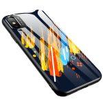 Color Glass Case 5 iPhone Xr edzettüveg hátlap, tok, mintás, színes