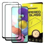 Wozinsky 2db Glass Screen 5D Full Glue Samsung Galaxy A51 teljes kijelzős edzett üvegfólia, 9H keménységű, tokbarát, fekete