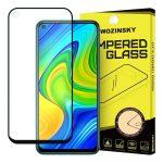 Wozinsky Xiaomi Redmi Note 9/Redmi 10X 4G 5D Full Glue, teljes kijelzős edzett üvegfólia (tempered glass) 9H keménységű, tokbarát, fekete