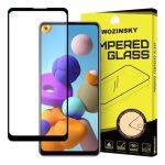 Wozinsky Samsung Galaxy A21s Full Glue teljes kijelzős edzett üvegfólia (tempered glass) 9H keménységű, tokbarát, fekete