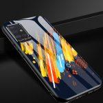 Color Glass Case 4 Samsung Galaxy A71 edzett üveg és szilikon tok, hátlap, mintás