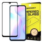 Wozinsky Xiaomi Redmi 9A/ Redmi 9C 5D Full Glue teljes kijelzős edzett üvegfólia (tempered glass), 9H keménységű, tokbarát, fekete
