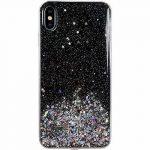 Wozinsky Star Glitter Shining Samsung Galaxy A21s hátlap, tok, fekete