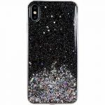 Wozinsky Star Glitter Shining iPhone 12 Mini hátlap, tok, fekete