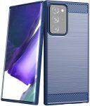 Carbon Case Flexible Samsung Galaxy Note 20 Ultra hátlap, tok, sötétkék