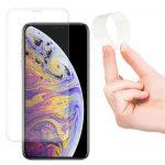 Wozinsky iPhone 12/12 Pro Nano Flexi Glass Hybrid teljes kijelzős edzett üvegfólia (tempered glass) 9H keménységű (nem teljes kijelzős 5D sík üvegfólia), tokbarát, fekete