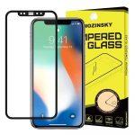 Wozinsky iPhone 12/12 Pro 5D Full Glue teljes kijelzős edzett üvegfólia, 9H keménységű, tokbarát, fekete
