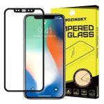 Wozinsky iPhone 12 Pro Max 5D Full Glue teljes kijelzős edzett üvegfólia (tempered glass) 9H keménységű, tokbarát, fekete