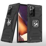 Wozinsky Armor Ring Samsung Galaxy Note 20 Ultra ütésálló hátlap, tok, fekete