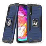 Wozinsky Armor Ring Samsung Galaxy A70 ütésálló hátlap, tok, sötétkék
