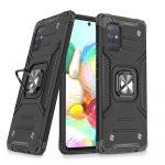 Wozinsky Armor Ring Samsung Galaxy A71 ütésálló hátlap, tok, fekete