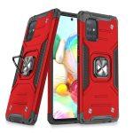 Wozinsky Armor Ring Samsung Galaxy A71 ütésálló hátlap, tok, piros