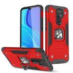 Wozinsky Armor Ring Xiaomi Redmi Note 9/Redmi 10X 4G ütésálló hátlap, tok, piros