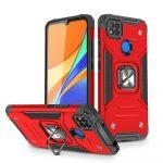 Wozinsky Armor Ring Xiaomi Redmi 9C ütésálló hátlap, tok, piros