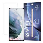 Samsung Galaxy S21 Plus kijelzővédő edzett üvegfólia (tempered glass) 9H keménységű (nem teljes kijelzős 2D sík üvegfólia), átlátszó