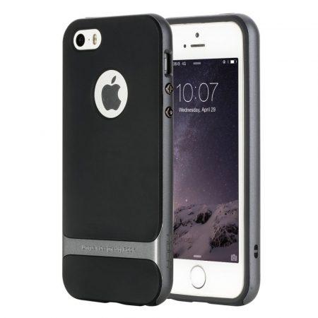 Rock iPhone 6 Plus/6S Plus Royce Series hátlap, tok, acélezüst