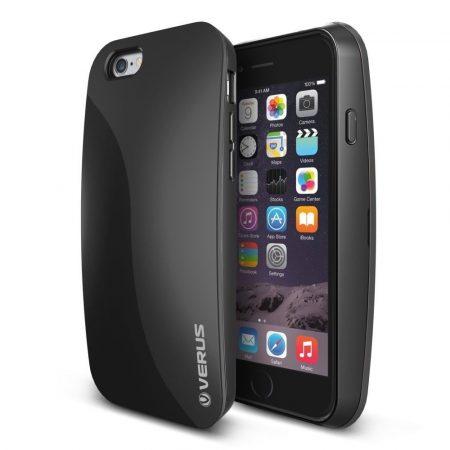 VRS Design (VERUS) iPhone 6/6S PEBBLE hátlap, tok, fekete