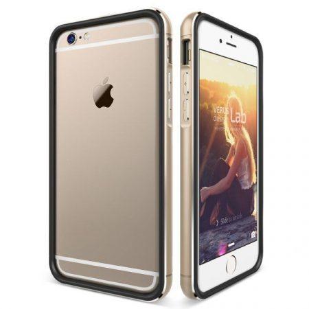 VRS Design (VERUS) iPhone 6 Plus/6S Plus IRON BUMPER hátlap, tok, fekete-arany