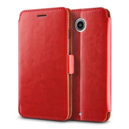 VRS Design (VERUS) Google Nexus 6 Dandy Klop Diary mágneses oldalra nyíló bőr tok, piros