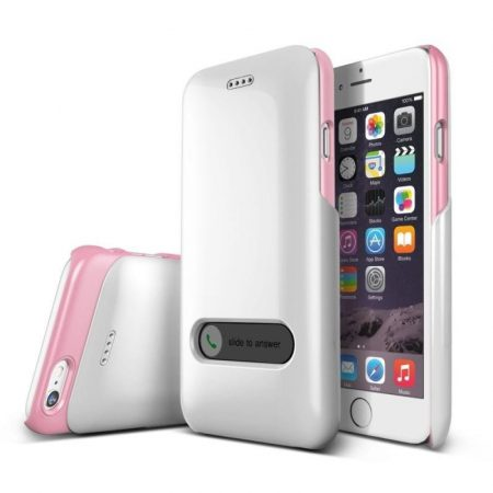 VRS Design (VERUS) iPhone 6 Slim Hard Slide hátlap, tok, gyöngyházfehér és rózsaszín