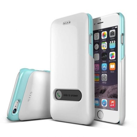 VRS Design (VERUS) iPhone 6 Slim Hard Slide hátlap, tok, gyöngyházfehér és kék