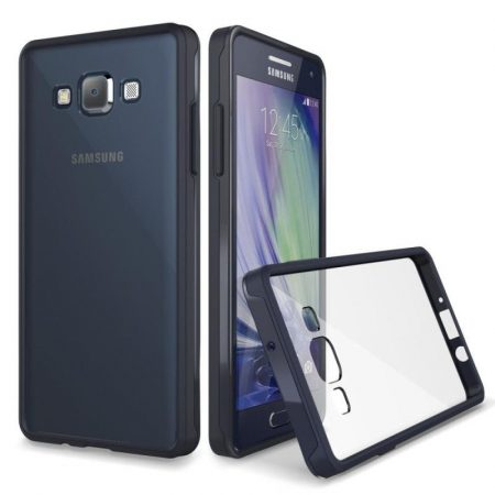 VRS Design (VERUS) Samsung Galaxy A7 Crystal MIXX hátlap, tok, átlátszó fekete