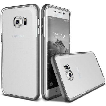 VRS Design (VERUS) Galaxy S6 Edge Plus Crystal Bumper hátlap, tok, acélezüst