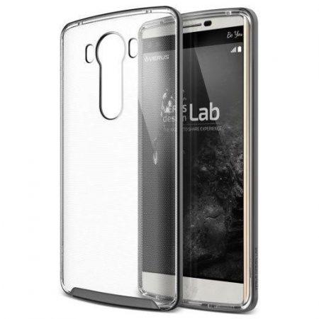 VRS Design (VERUS) LG V10 Crystal Bumper hátlap, tok, acélezüst