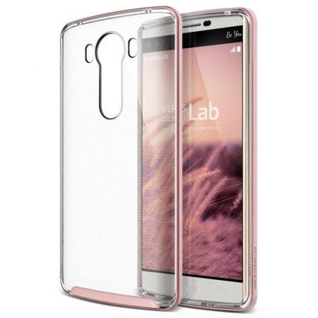 VRS Design (VERUS) LG V10 Crystal Bumper hátlap, tok, rozé arany