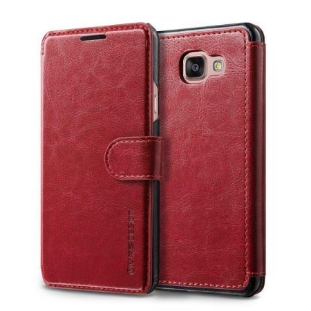 VRS Design (VERUS) Samsung Galaxy A7 (2016) Dandy Layered mágneses bőr piros