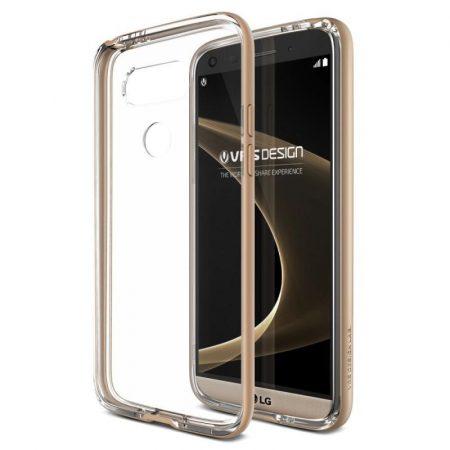 VRS Design (VERUS) LG G5 Crystal Bumper hátlap, tok, arany