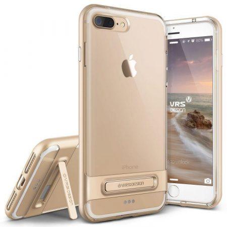 VRS Design (VERUS) iPhone 7 Plus Crystal Bumper hátlap, tok, arany