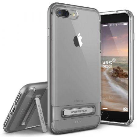 VRS Design (VERUS) iPhone 7 Plus Crystal Bumper hátlap, tok, acélezüst