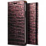 VRS Design (VERUS) iPhone 7 Plus Genuine Croco Diary oldalra nyíló bőr tok, rózsaszín