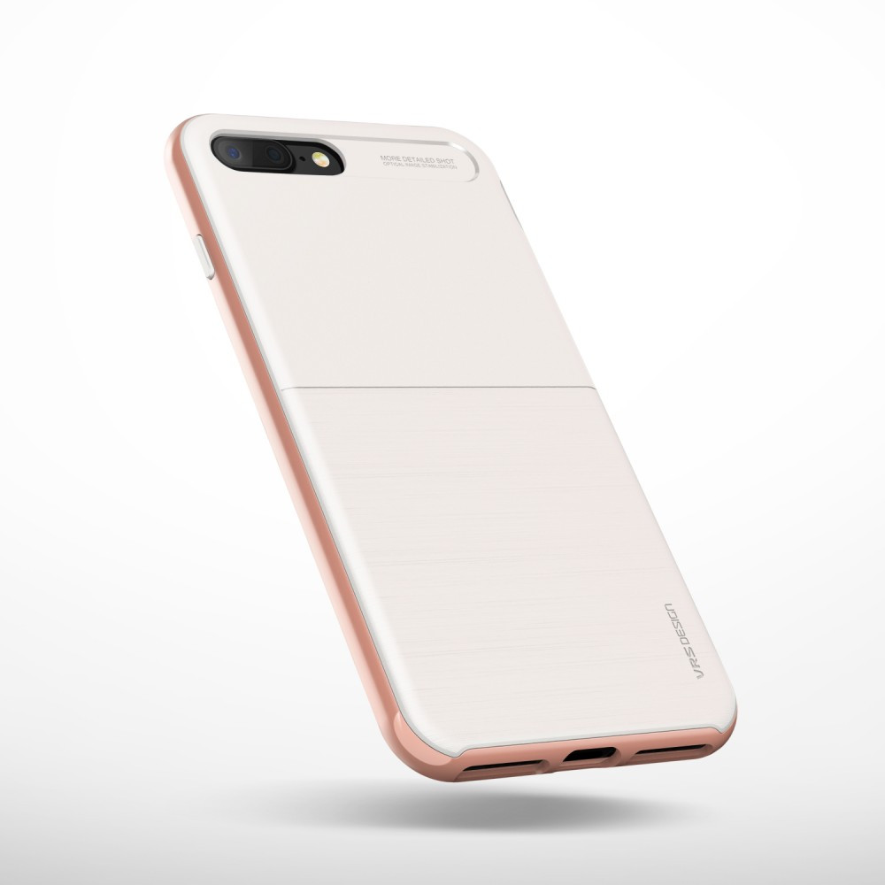 hot sale online 5e6bc 39108 VRS Design (VERUS) iPhone 8 Plus New High Pro Shield back cover, case,  white/rose gold