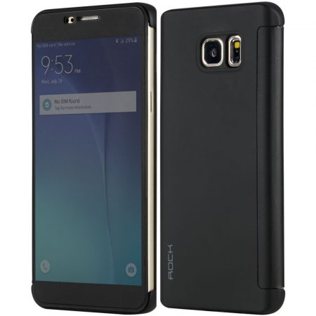 Rock Samsung Galaxy Note 5 DR.V Series without APP hátlap, tok, fekete