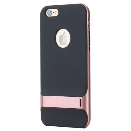 Rock iPhone 6 Plus/6S Plus Royce with stand series hátlap, tok, rozé arany