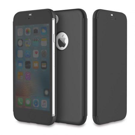 Rock iPhone 6 Plus/6S Plus DR.V Series without APP oldalra nyíló tok, flip tok, fekete