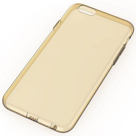 Rock iPhone 6 Plus/6S Plus Slim Jacket szilikon tok, átlátszó-arany