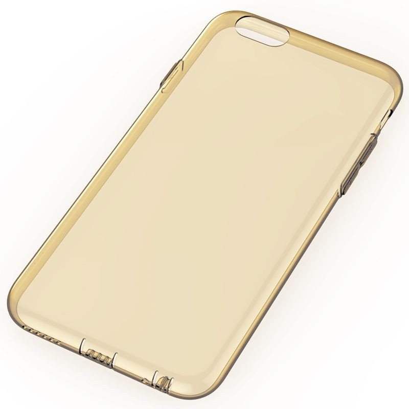 0d91ac0a28 Rock iPhone 6 Plus/6S Plus Slim Jacket szilikon tok, átlátszó-arany ...
