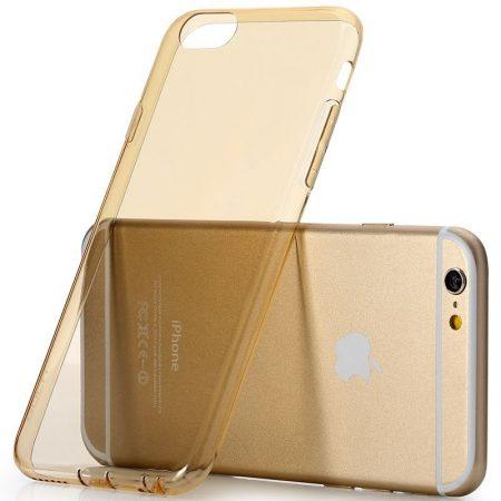 Rock iPhone 6 Plus/6S Plus Ultrathin TPU Slim Jacket szilikon hátlap, tok, átlátszó-arany
